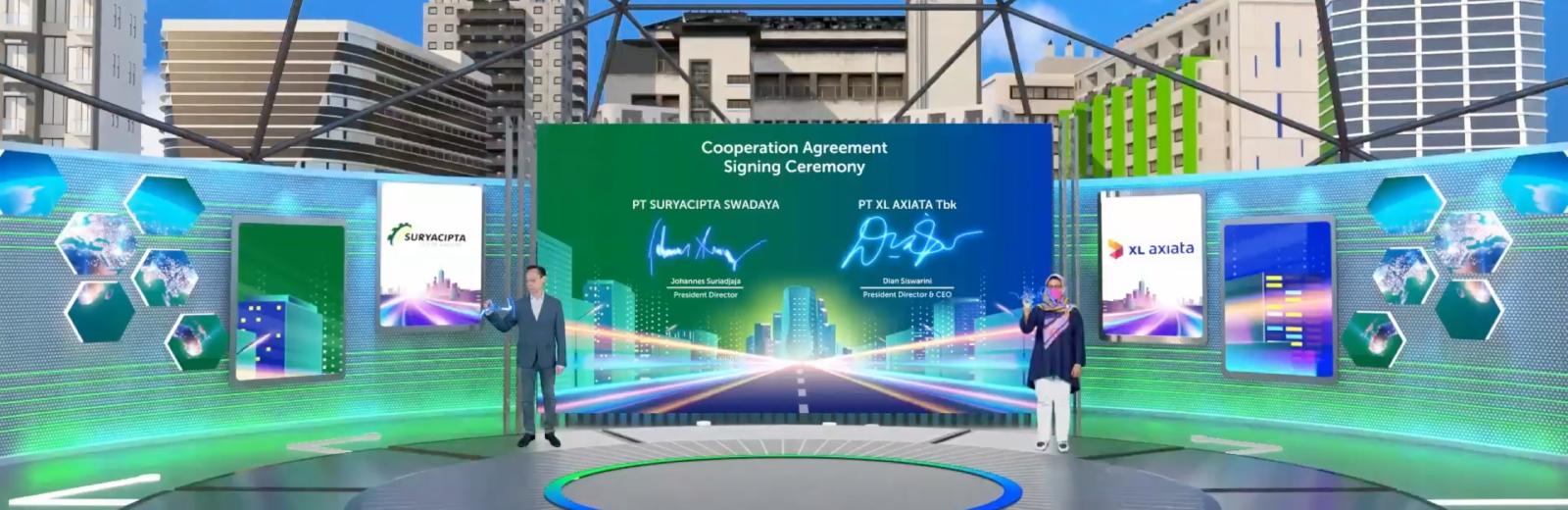 Signing Ceremony Suryacipta & XL Axiata